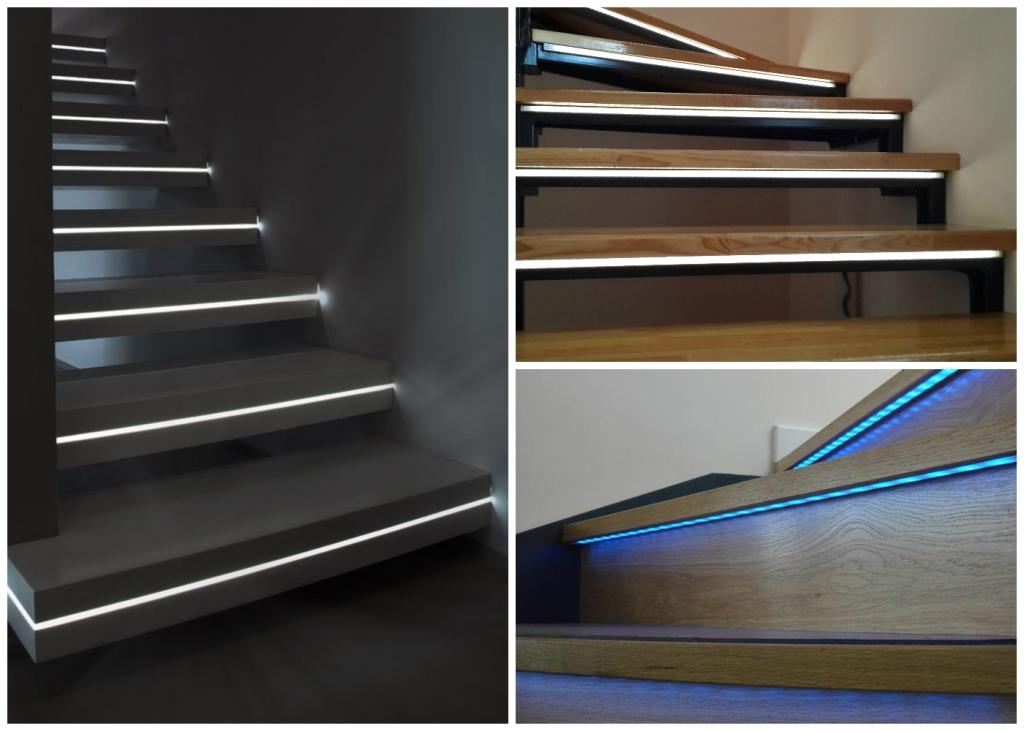 Подсветка для лестницы своими руками 720